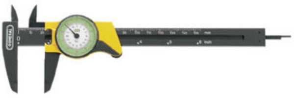 "General Tools 142 Plastic Dial Caliper, 6"", Inches Readout"