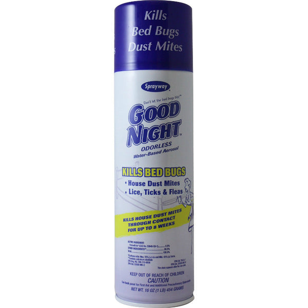 Sparyway® SW003R Good Night® Odorless Water-Based Residual Spray, 16 Oz Aerosol