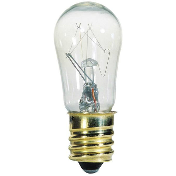 Westinghouse 04025 Candelabra Base S6 Indicator Light Bulb, 6W, Clear, 2-Pack