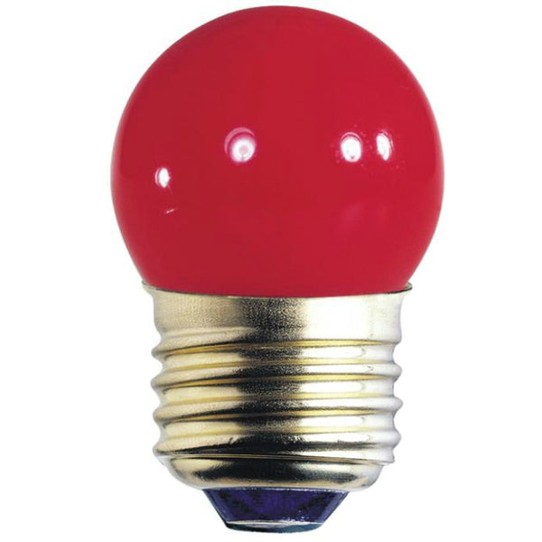 Westinghouse 04067 Standard Base S11 Indicator Light Bulb, 7.5W, Red