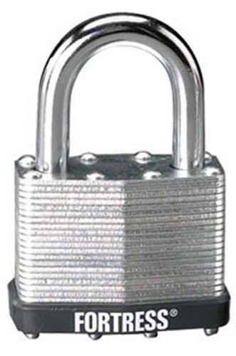 Master Lock 1805D Steel Shackle Laminated Padlock, 2""