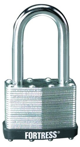 Master Lock 1805DLH Laminated Padlock with Steel Shackle, 2""
