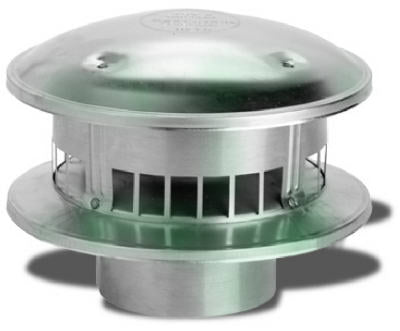 "Selkirk 106800 Round Type B Gas Vent Top, 6"", #6RV-RT"