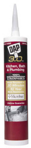 Dap® 00790 Kwik Seal Advanced Kitchen & Bath Adhesive Caulk, 9.0 Oz, White