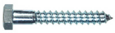 Hillman 230009 Hex Head Lag Bolt, 1/4 x 1.25'', Zinc, 100 Pack
