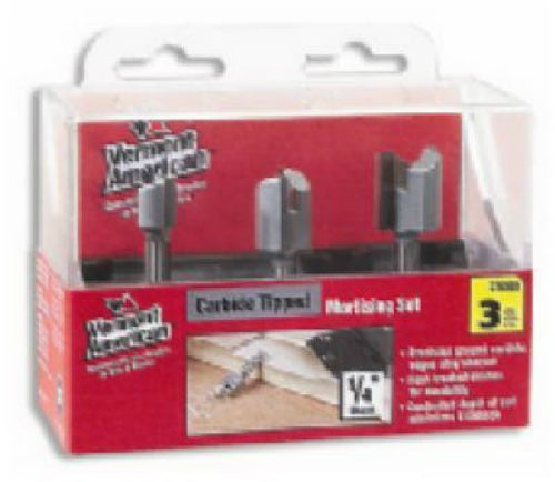 Vermont American® 23008 Carbide Tip Hinge Mortising Router Bit Set, 3-Piece