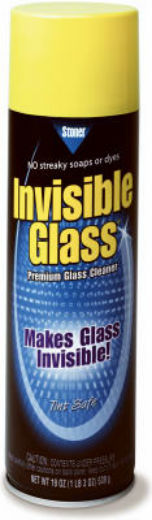 Stoner 91164 Invisible Glass Window/Windshield/Mirror Cleaner Aerosol, 19 Oz