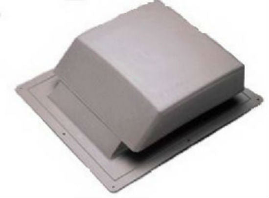 Air Vent 90123 Slant Roof Mounted Vent, Plastic, Light Gray