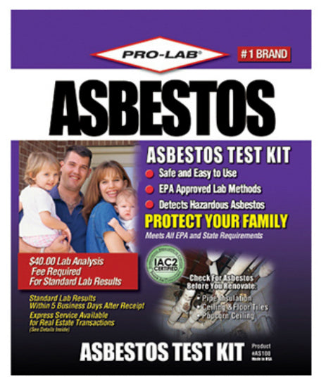 Pro-Lab® AS108 Professional Asbestos Test Kit