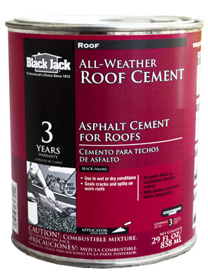 Black Jack® 6230-9-14 All-Weather Roof Cement, 29 Oz