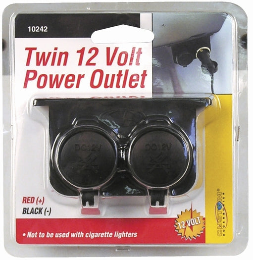 Custom Accessories 10242 Auxiliary Twin Power Outlet, 12-Volt