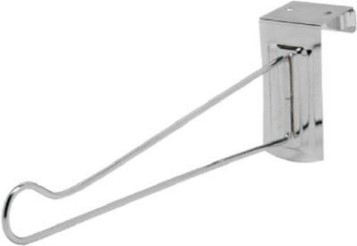 "Decko 38500 Adjustable Over the Door Hanger, 14"", Steel, Chrome Finish"