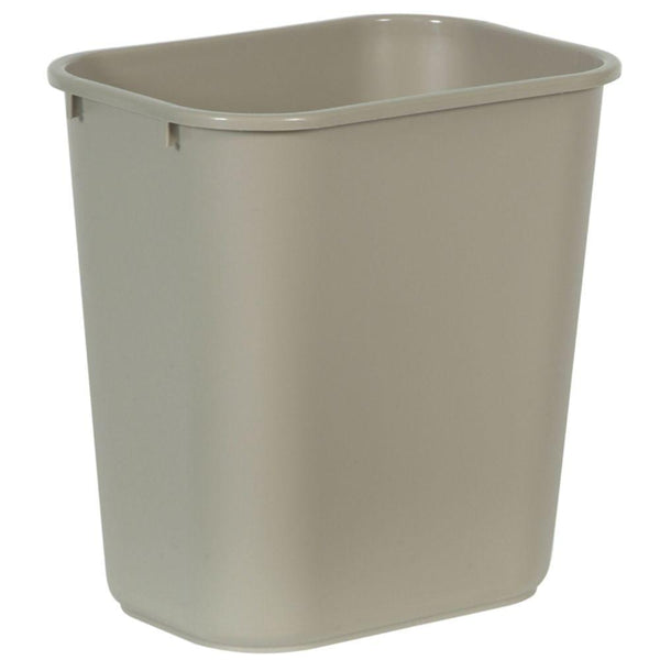 Rubbermaid® 2956-00-BEIG Rectangular Deskside Wastebasket, Beige, 28-1/8 Qt