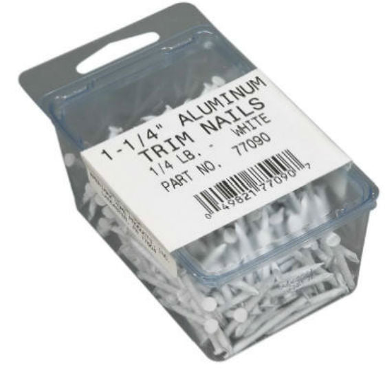 "Amerimax 77090 Trim Nails, 1-1/4"", White"