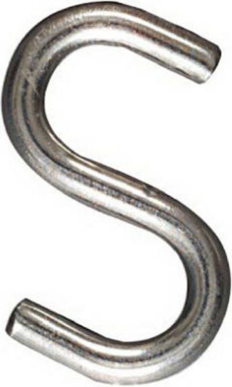"National Hardware® N233-536 Open S Hook, 1-1/2"", Stainless Steel"