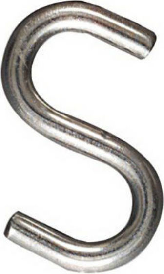 "National Hardware® N233-544 Open S Hook, 2"", Stainless Steel"