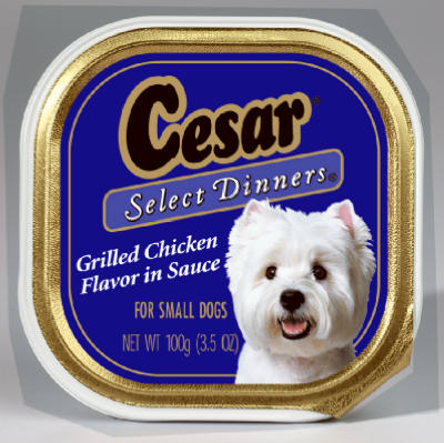 Cesar 02452 Select Grilled Chicken Dinner Food, 3.5 Oz
