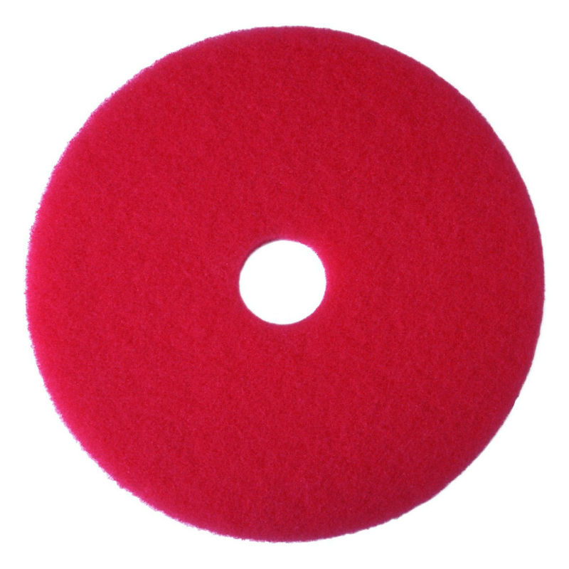 "3M 08392 Buffer Floor Pad 5100, 17"", Red"