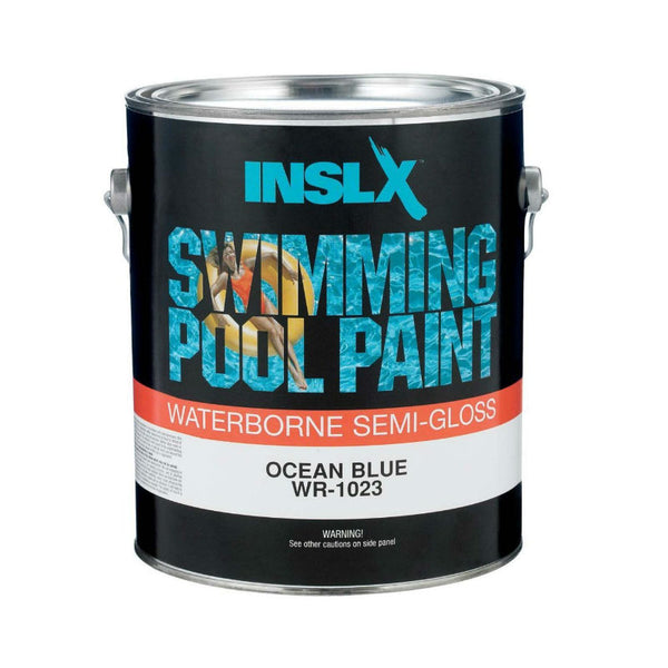 Insl-X® WR1023092-01 Waterborne Semi-Gloss Swimming Pool Paint, Ocean Blue, 1 Gal