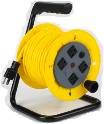 Alert Stamping 7140A Wind Up Cord Reel with Tubular Steel Frame, 40'