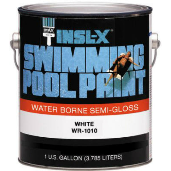 Insl-X® WR1010092-01 Waterborne Semi-Gloss Swimming Pool Paint, White, 1 Gallon