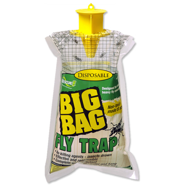 Rescue!® BFTD-DB12 Disposable Big Bag Fly Trap, Up To 40000 Flies