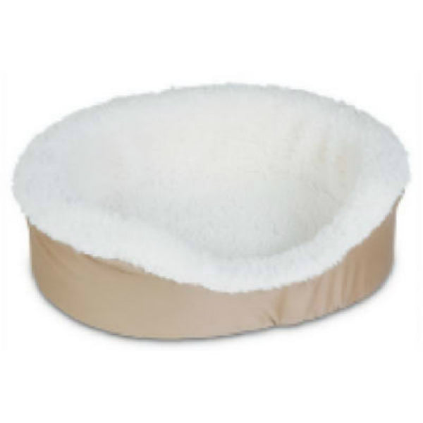 "Aspen Pet 27173 Plush/Suede Oval Lounger, Small, 23"" x 17"""