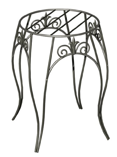 Panacea™ 89175 Classic Finial Style Plant Stand, Black, 15""