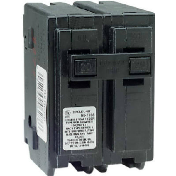 Square D HOM220CP Double Pole Circuit  Breaker, 20 Amp
