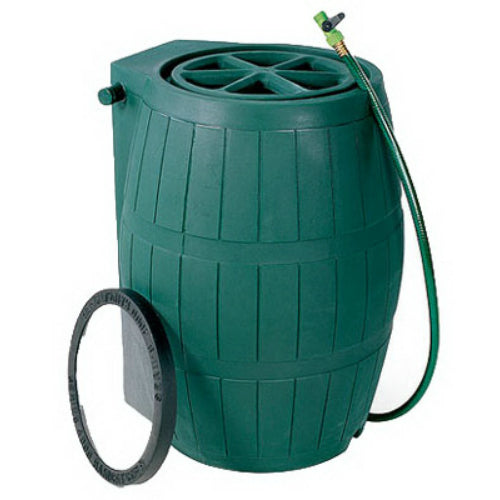 Achla® Designs RB-02 Plastic Rain Barrel with Screen, 75 Gallon, Green