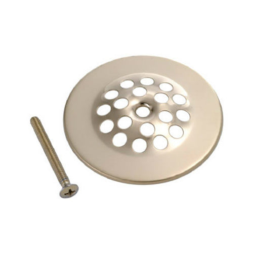 Master Plumber 828-886 Shower Drain Strainer Cover, Polished Brass