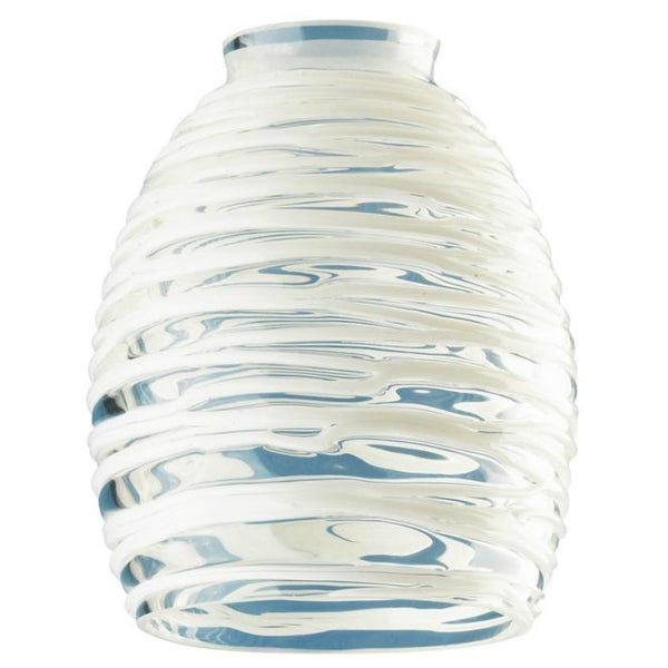 Westinghouse 81314 Fan/Light Fixture Glass Shade, Clear w/ White Rope, 2-1/4""