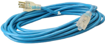 Master Electrician 02367-06ME Extension Cord, 25', 16/3, Blue