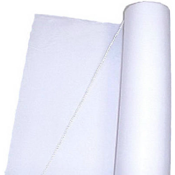 Table-Mate FL100-WH Textured Fabric Aisle Runner, 100', White