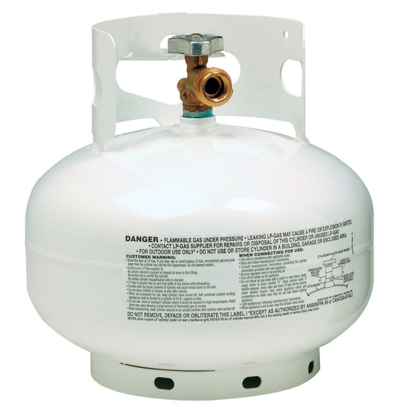 Manchester Tank 10393-1 Vertical ACME/OPD Propane Gas Cylinder, White, 11 Lb