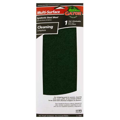 "Gator 7318 Cleaning & Stripping Pad, 4-3/8"" x 11"""
