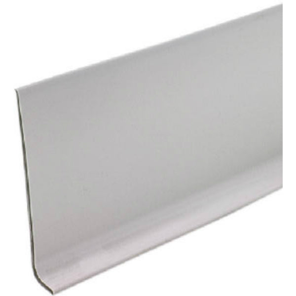 "M-D® Building 75291 Vinyl Cove Wall Base with Dry Back, 4"" x 4', Silver Gray"