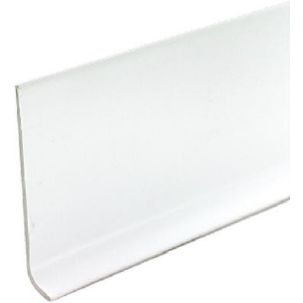 "M-D® Building 75317 Vinyl Cove Wall Base with Dry Back, 4"" x 4', White"