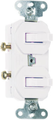 Pass & Seymour Three-Way Combination Switch, 15A, 120/277V, White