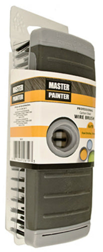 Master Painter SB619 Steel Wire Block Brush, 6 x 19 Row