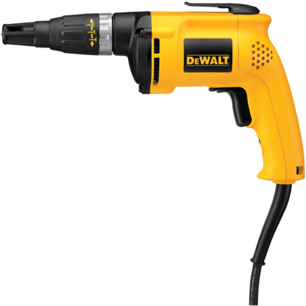 DeWalt® DW255 Heavy-Duty Variable Speed Reversing Drywall Screwdriver, 5300 RPM, 6A