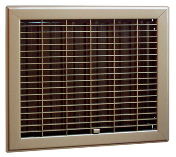"AmeriFlow® 400B12X14 Heavy Duty Steel Gravity Floor Register, Brown, 12"" x 14"""