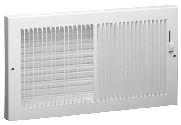 "AmeriFlow® 367W14X6 Steel Baseboard Register, 1/3"" Fins, White, 14"" x 6"""