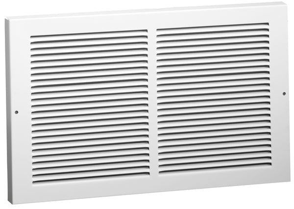 "AmeriFlow 375W12X6 Baseboard Return Grille, 1/3"" Fin Spacing, White, 12"" x 6"""