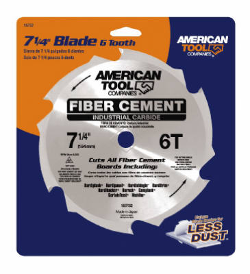 "American Tools 15702ZR Carbide Circular Saw Blade, 7-1/4"", 6T"