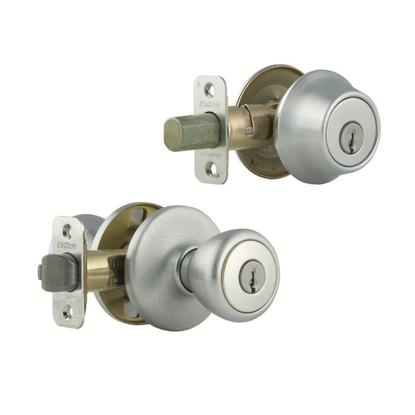 Kwikset® 690T-26D-CP-CODE-K6 Tylo Single Cylinder Combo Pack, Satin Chrome