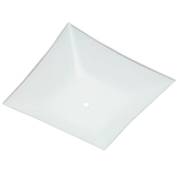 "Westinghouse 81720 Square Glass Diffuser, 12"", White"