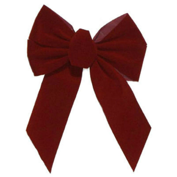 Holiday Trim 7822 Burgundy Velvet 5-Loop Bow for Christmas Decoration, 13""