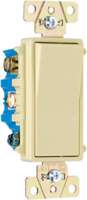 Pass & Seymour TradeMaster Decorator Switch, 15A, Ivory