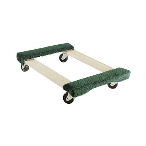 "Shepherd Hardware 9850 Rubber Wheels Mover's Dolly with Carpet, 20"" x 31"""